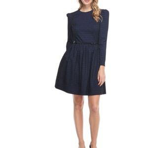 Gal Meets Glam Navy Long Sleeve Dress